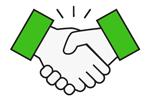 Handshake Icon Green
