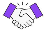 handshake icon purple