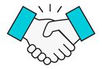 handshake icon teal