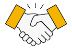 handshake icon yellow