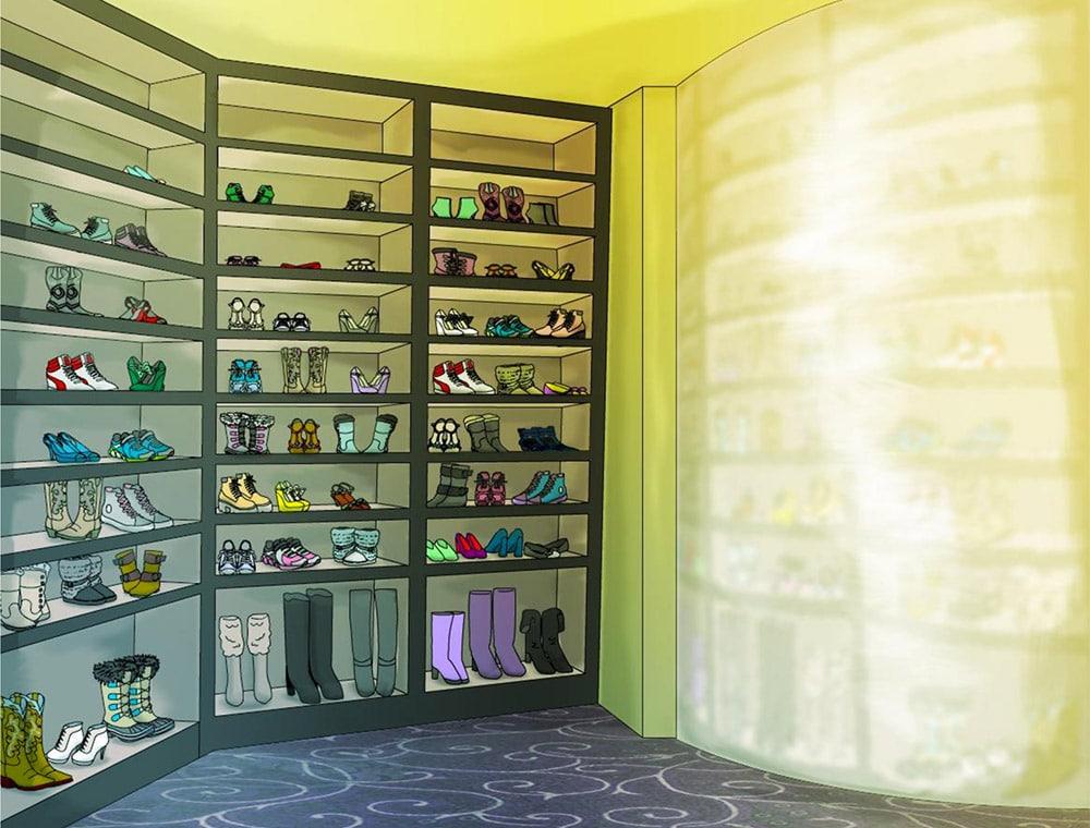 shoe wall a designers look at dcs 2017 custom closet trends closet america